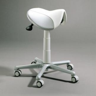 Doctor stool with saddle seat
